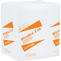 L40 Wipers, 1/4 Fold, White, 12 Packs/56 ea