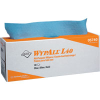L40 Wipers, POP-UP Box, Blue, 9 Boxes/100 ea